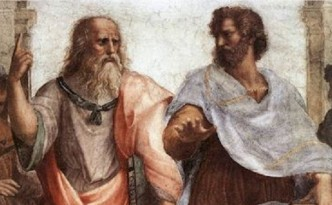 Plato Arguing with Aristotle