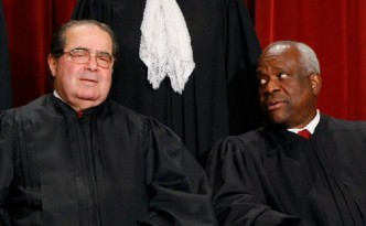 Justice Antonin Scalia and Justice Clarence Thomas
