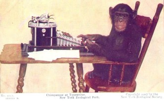 Chimp at Typewriter 1907