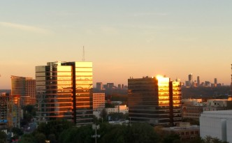 Atlanta, GA - Midtown and Buckhead from the North Side of the One Atlantic Center